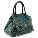 Shopper im Leoparden-Design Blau